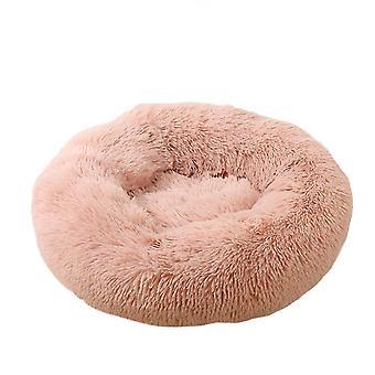 60X20cm rózsaszín kutya macska bedround önmeleg nyugtató kisállat bedsoft kiskutya kanapé x7838