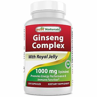 Best Naturals Ginseng Complex, 1000 mg, 120 Caps