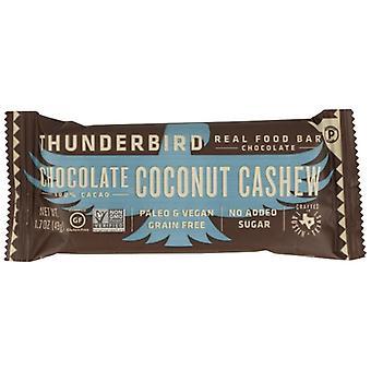 Thunderbird Energetica Bar Choc Ccnut الكاجو، حالة 15 X 1.7 Oz
