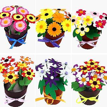 Flower Pot DIY Crafts Toys For Kids Potted Plant Handmade Flowers Bouquet Kindergarten Teaching Aids