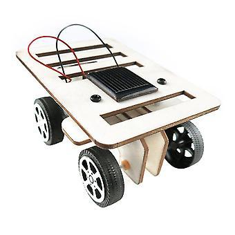 Diy Mini coche de madera modelo solar powered kit niños juguete educativo regalo