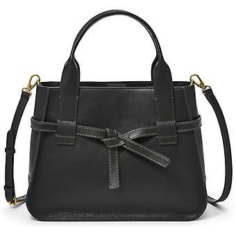 Fossil Willow Satchel Black Leather Crossbody Bag SHB2325001