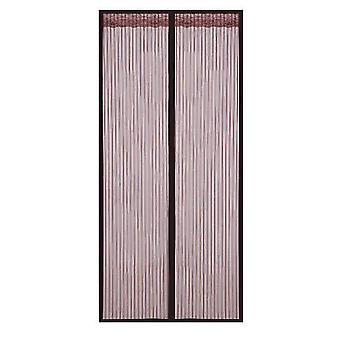 Amovible Auto-adhésif Fenêtre Écran Porte Rideau Velcro Magnet (110 * 220cm)
