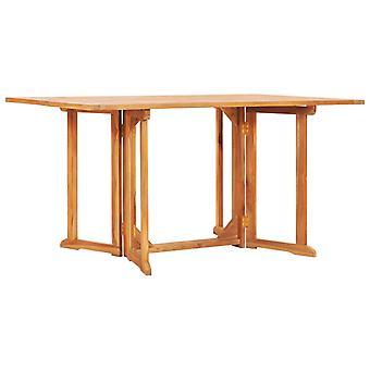 vidaXL Butterfly Garden Table Folding 150x90x75cm Teak Solid Wood