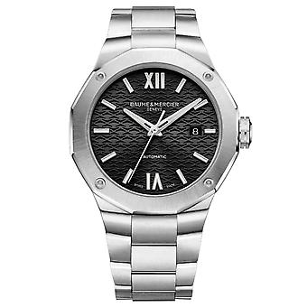 Baume & Mercier M0a10621 Riviera Black And Stainless Steel Automatic Men's Watch