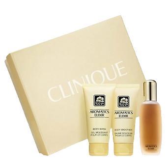 Clinique Aromático Elixir Eau Parfum 100 ml + Lavagem Corporal 75 ml + Corpo Mais suave 75 ml