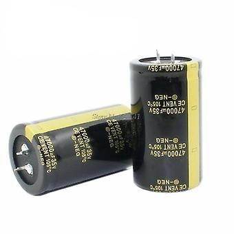 35v 47000uf 35x60mm alumiini elektrolyyttinen läpi reiän kondensaattorin