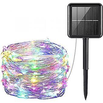 Mini 33feet 100 Led Copper Wire Lights, Waterproof Solar Decoration Lights(Color)