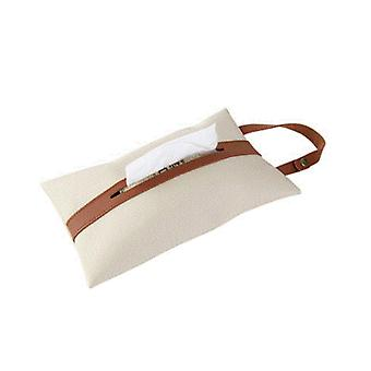 קופסת טישו פשוטה לכסות מטבח תלוי מתקן רקמות נורדית קופסאות מפית תיק עור רטרו