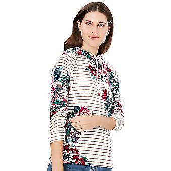 Joules Womens Marlston Print Semi Monteret Jersey Sweatshirt