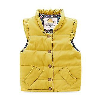 Lichtgewicht vest jas Snap Button Down mouwloze bovenkleding