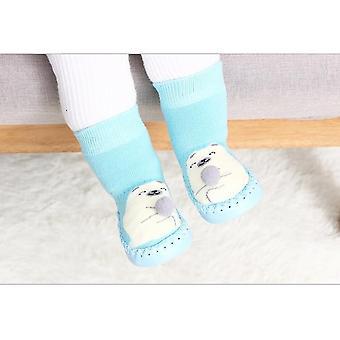 Νεογέννητες κάλτσες μωρών βαμβακιού μωρών μωρών με τις λαστιχένιες σόλες
