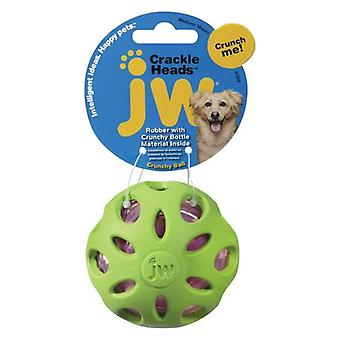 JW Pet Crackle Heads Rubber Ball Dog Toy Medium - 1 count