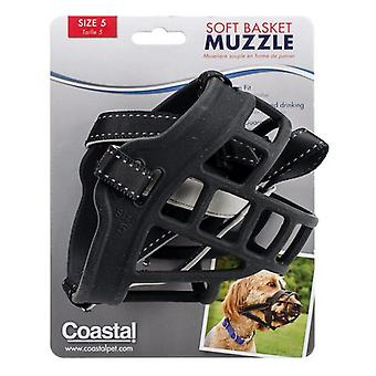 Coastal Pet Soft Basket Muzzle for Dogs Black - Size 5