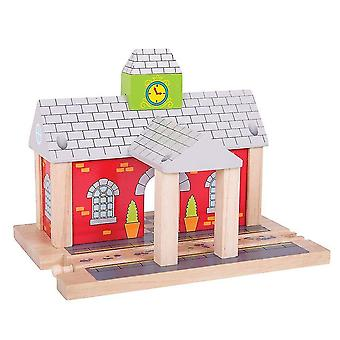 Wooden blocks bigjigs rail wooden railway station - other major rail brands are compatible