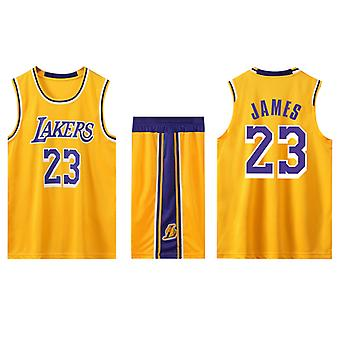 Los Angeles Lakers Lebron James No.23 Basketball Jersey #23/jaune Home (taille enfant)