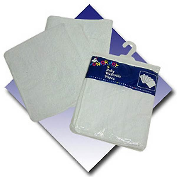 Junior Joy 2 Easy Fastener Baby Bibs UPVC Backed 100% Cotton White