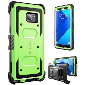 i-Blason-Galaxy Note 7 Case-Armorbox Fullbody Case-Green