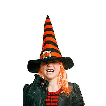 Hexenhut Kinder Hexe Hut orange schwarz Halloween Horror