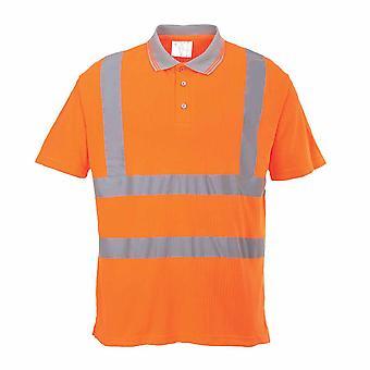Portwest - Hi-Vis sikkerhed ribbede Polo Shirt