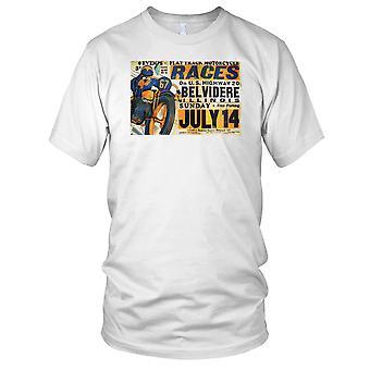 Flat Track motorsykkel syklistene klassiske plakaten barn T skjorte