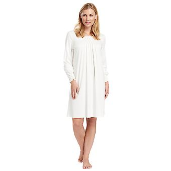 Feraud 3883038-10044 vrouwen Champagne witte katoenen Night Gown Lounge Pyama