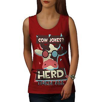 牛の冗談群れクールな女性 RedTank トップ |Wellcoda