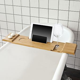 SoBuy Badewanne Rack, Badewanne Regal Tablett mit iPad Min/Handy, FRG104-N