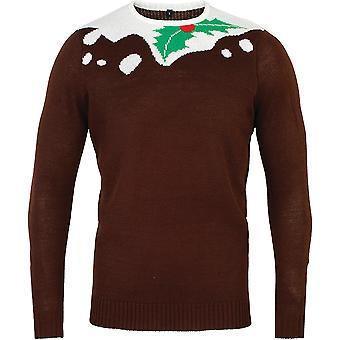 Christmas Mens & Womens Pudding 2D Festive Sweater Jumper