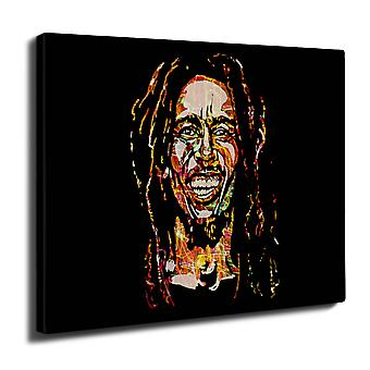 Bob Marley berømte Rasta veggen kunst lerret 40 cm x 30 cm | Wellcoda