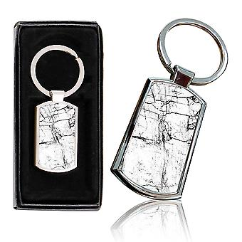 i-Tronixs - Premium Marble Design Chrome Metal Keyring with Free Gift Box (3-Pack) - 0051
