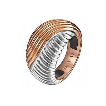 Joop kvinders ring rustfrit stål sølv Rosé bølger JPRG10609A