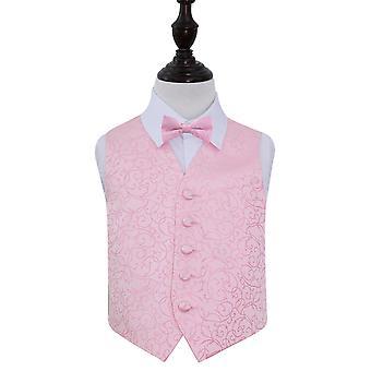 Baby rosa Wirbel Hochzeit Weste & Fliege Set für Jungen