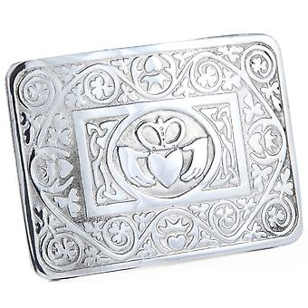 Irish Claddagh Pewter Belt Buckle