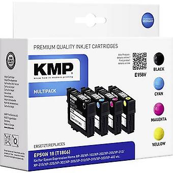 KMP inkt vervangen Epson T1801, T1802, T1803, T1804, 18 compatibel Set zwart, cyaan, Magenta, gele E158V 1622,4850