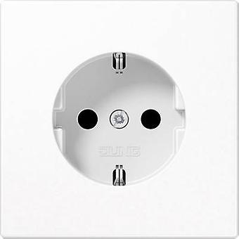 Jung Insert PG socket LS plus, LS design, LS 990 Alpine white LS1520KIWW
