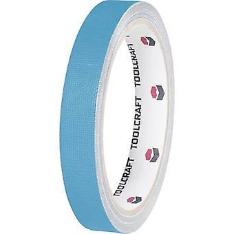 TOOLCRAFT HEB38L10BC klud tape HEB38L10BC blå (L x B) 10 m x 38 mm 1 ruller
