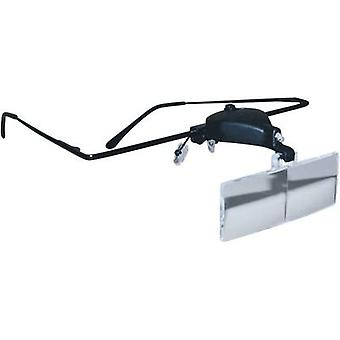 RONA 450515 Magnifier glasses incl. LED lighting Magnification: 1.5 x, 2.5 x, 3.5 x