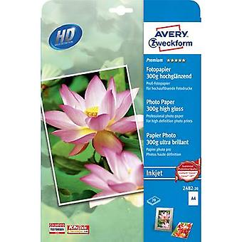 Avery-Zweckform Premium Photo Paper Inkjet 2482-20 Photo paper A4 300 g/m² 20 sheet High-lustre