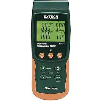 Extech SDL200 thermometer-199 tot + 1700 °C sensor type K, J, T, E, R, S, Pt100 data logger