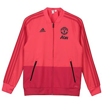 2018-2019 Man Utd Adidas Presentation Jacket (Pink) - Kids