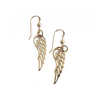 Gemshine-נשים-עגילים-כנפיים-925 כסף-זהב-3 ס מ