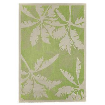 Buiten tapijt voor terras / balkon tapijt binnen / buiten - voor binnen en buiten wonen Palm groene natuur 135 x 190 cm