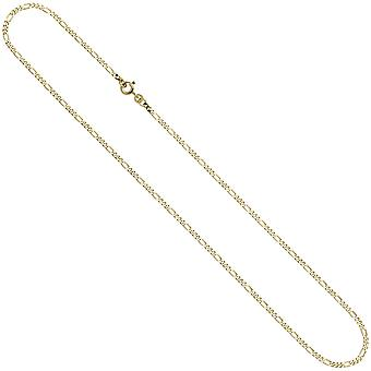 Figaro chain 333 2,3 mm 45 cm gold yellow gold chain necklace gold chain spring ring