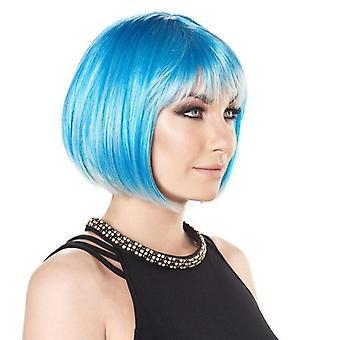 Party Wig-sininen-lyhyt Bob Peru ukki-kirkkaat värit
