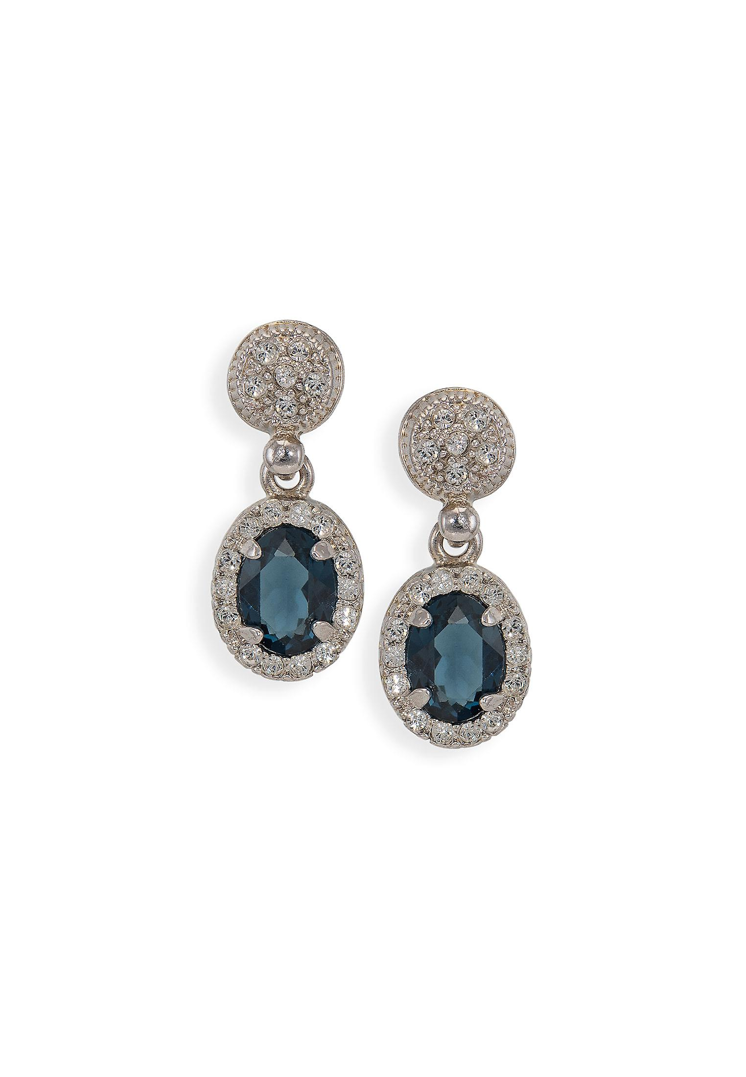 Blue earrings with crystals from Swarovski 4797