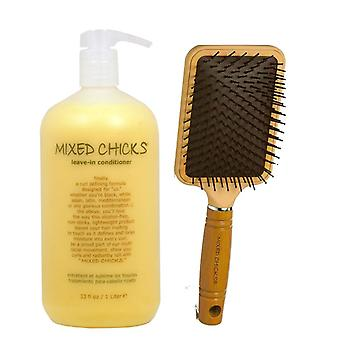 Gemengde kuikens leave-in conditioner 14 Oz & paddle brush