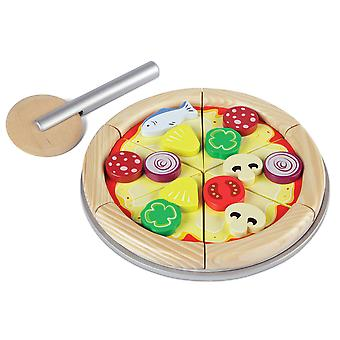 Tidlo Wooden Play Food Pizza Set Kitchen Roleplay Accessories