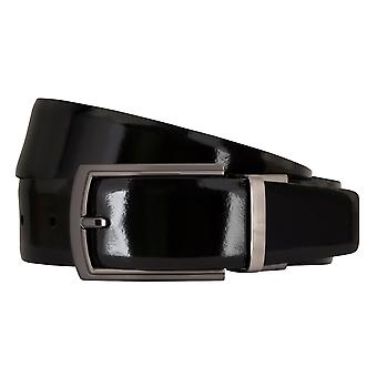 MIGUEL BELLIDO clasico belt belt men's belts leather belt black/blue 7720