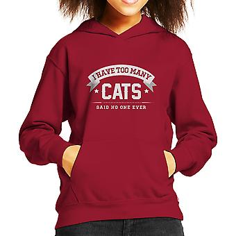 I Have Too Many Cats Said No One Ever Kid's Hooded Sweatshirt